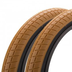 "Pair of MISSION Tracker tire 20 x 2.40"" GUM / BLACK WALL"