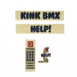 Pack d'autocollants KINK Nathan Williams BLUE / TAN