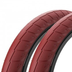 "Pair of CINEMA Nathan Williams tires 20 x 2.50"" RED / BLACK WALL"