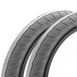 "Pair of CINEMA Nathan Williams tires 20 x 2.50"" GREY / BLACK WALL"