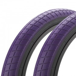 "Pair of MISSION Tracker tires 20 x 2.40"" PURPLE"