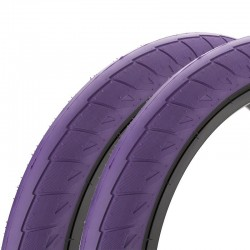 "Pair of CINEMA Nathan Williams tires 20 x 2.50"" PURPLE / BLACK WALL"