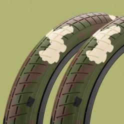 """Paire de pneus MISSION Tracker 20 x 2.40"""" WOODLAND CAMO"""
