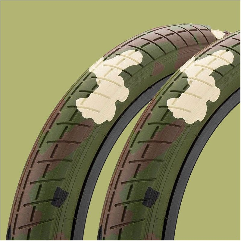 "Pair of MISSION Tracker tires 20 x 2.40"" WOODLAND CAMO"