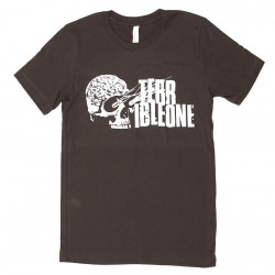 TERRIBLE ONE Brainskull tee BROWN