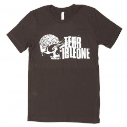 Tshirt TERRIBLE ONE Brainskull BROWN