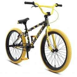 "SE BIKES 2021 Socal Flyer 24"" wheelie bike YELLOW CAMO"