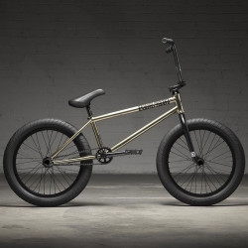 "KINK 2022 Cloud Travis Hughes Freecoaster complete bike 21"" GLOSS IRIDESCENT CHROME"