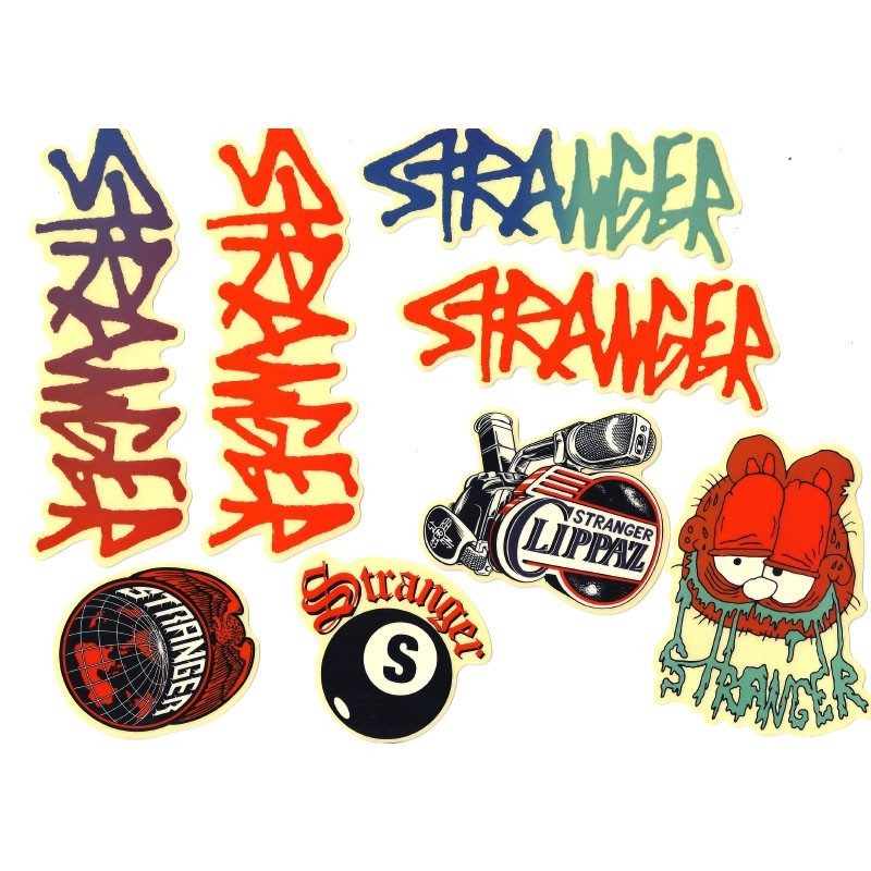 STRANGER stickers pack