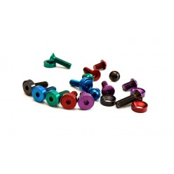 "Colored crankset bolt kit 3/8"" x 24tpi"