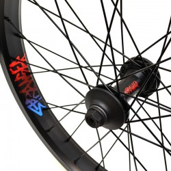 Roue STRANGER Crux V2 XL avant BLACK AVEC GUARDS