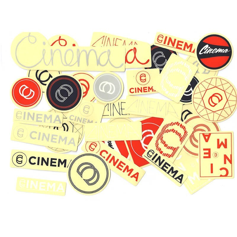 Pack of CINEMA stickers