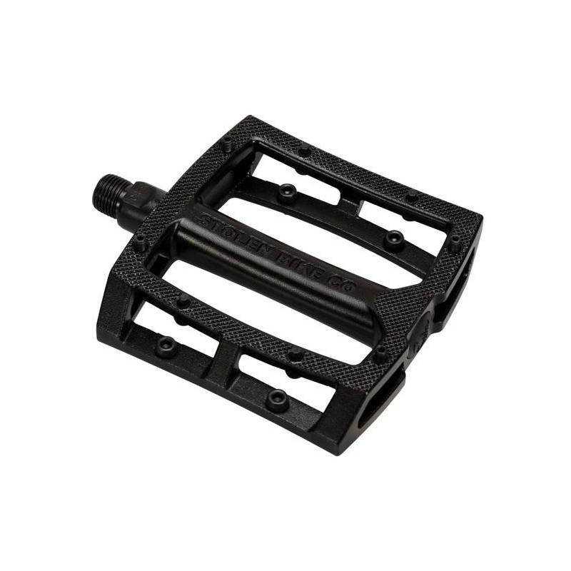 STOLEN Throttle aluminum pedals UNSEALED BLACK