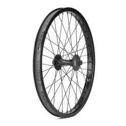 "CINEMA ZX 333 front wheel 20"" BLACK WITH GUARDS"