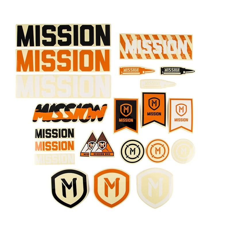 Pack d'autocollants MISSION 2018