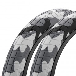 "Pair of MISSION Tracker tires 20 x 2.40"" ARTIC CAMO"
