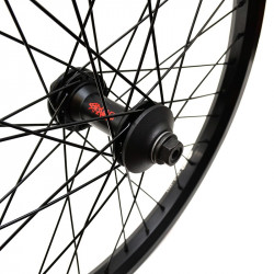 STRANGER Crux V2 LT front wheel BLACK WITH GUARDS