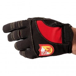 S&M x BILTWELL Shield gloves BLACK / RED