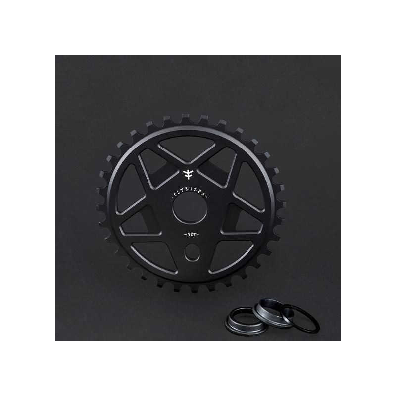 Couronne FLYBIKES Tractor TT FLAT BLACK